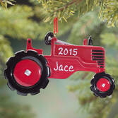 Personalized Red Tractor Ornament