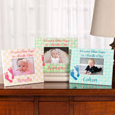 Personalized Silent Nights Baby Frame   Personalized Blue