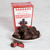 Sanders Dark Chocolate Mini Raspberry Sorbet Hearts