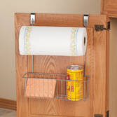Over-the-Cabinet Paper Towel & Storage Basket