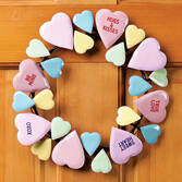 Conversation Heart Wreath by Maple Lane Creations™
