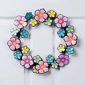 Metal Flower Wreath by Maple Lane Creations™