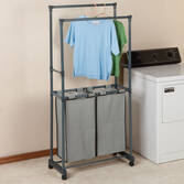Clothing Rack with Hampers