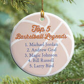 Personalized Basketball Legends Ornament