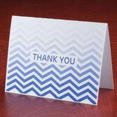 Chevron Thank You Note Cards, Set of 25