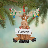 Personalized Christmas Moose Ornament
