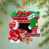 Personalized Waiting for Santa Ornament