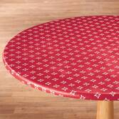 Heritage Vinyl Elasticized Table Cover Red 40
