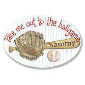 Personalized Baseball Name Plaque