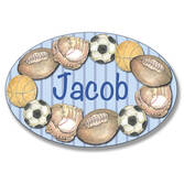 Personalized Sports Stripe Name Plaque