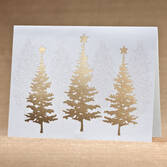 Personalized Golden December Holiday Cards - Set of 18