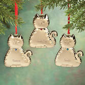 Personalized Birthstone Cat Ornament