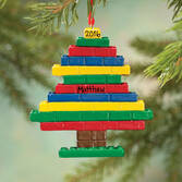 Personalized Building Blocks Tree Ornament   Personalized