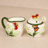 Butterfly Cream & Sugar Set