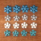 Glitter Snowflake Christmas Ornaments, Set of 16