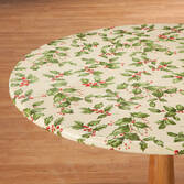 Holly Leaf Vinyl Elasticized Tablecovers