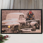 Large Lighted Merry Christmas Canvas