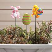 Resin Easter Planter Stakes by Maple Lane Creations™, Set of 3