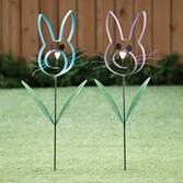 Metal Bunny Garden Stake by Maple Lane Creations™
