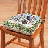 Reversible Snowmen Chair Pad