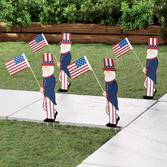Uncle Sam Metal Yard Stakes by Maple Lane Creations™, Set of 4